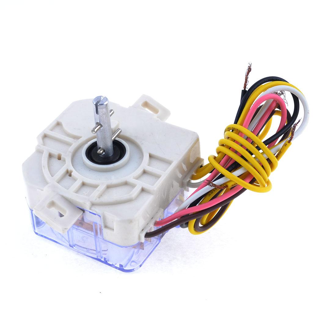 AC 250V 3A 6 Wire Single Shaft Washing Machine Washer Timer White