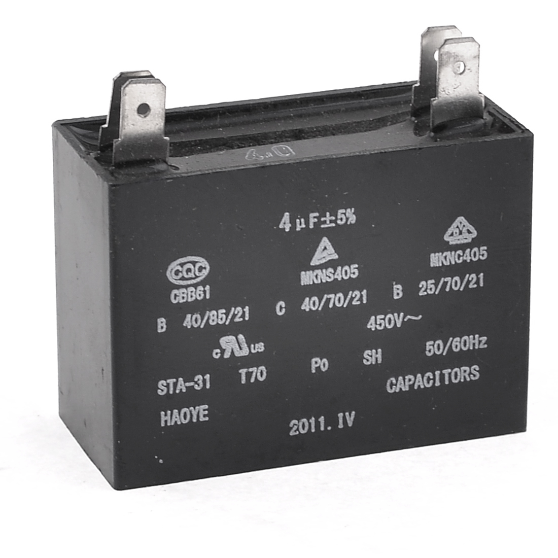 450V 4uF 4-pin Rectangle Air Conditioner Washing Machine Capacitor