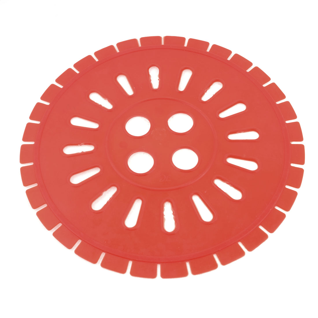 260mm Dia Soft Plastic Clothes Dryer Cover Ring Orange Red for Washing Machine