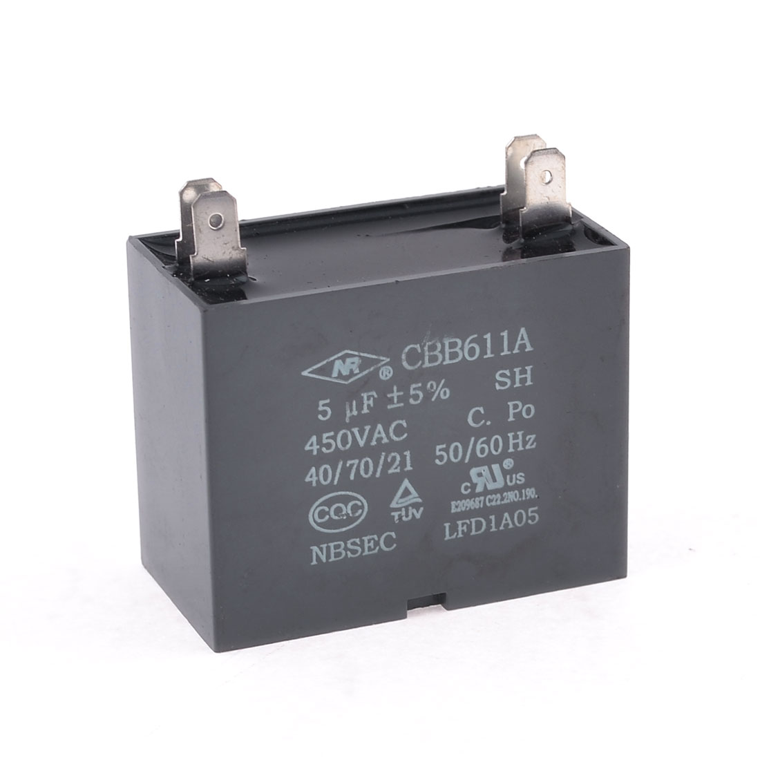 450V 5uF 4-pin Rectangle Air Conditioner Washing Machine Capacitor
