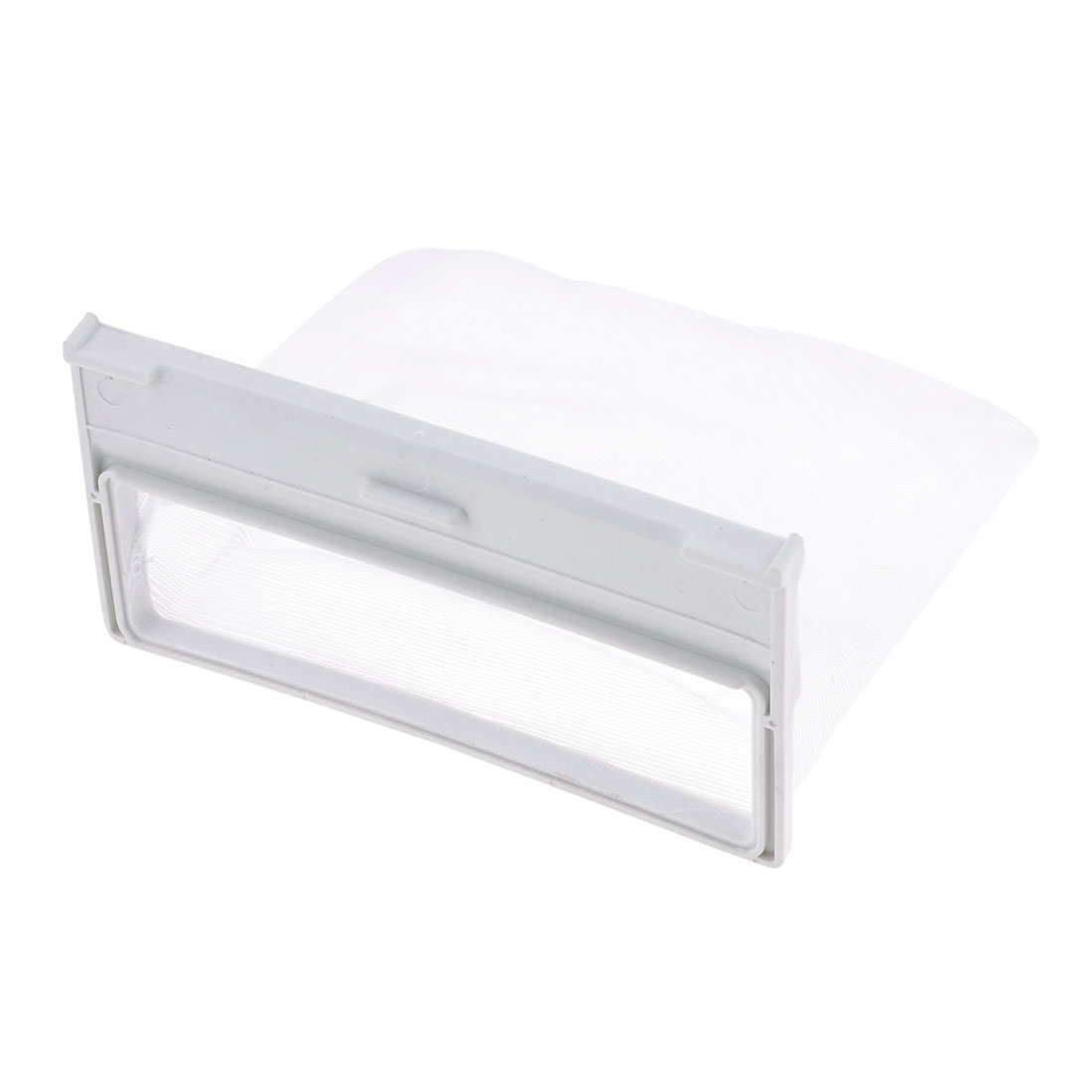Washing Machine White Plastic Nylon Filter 15cm x 12cm Meshy Bag