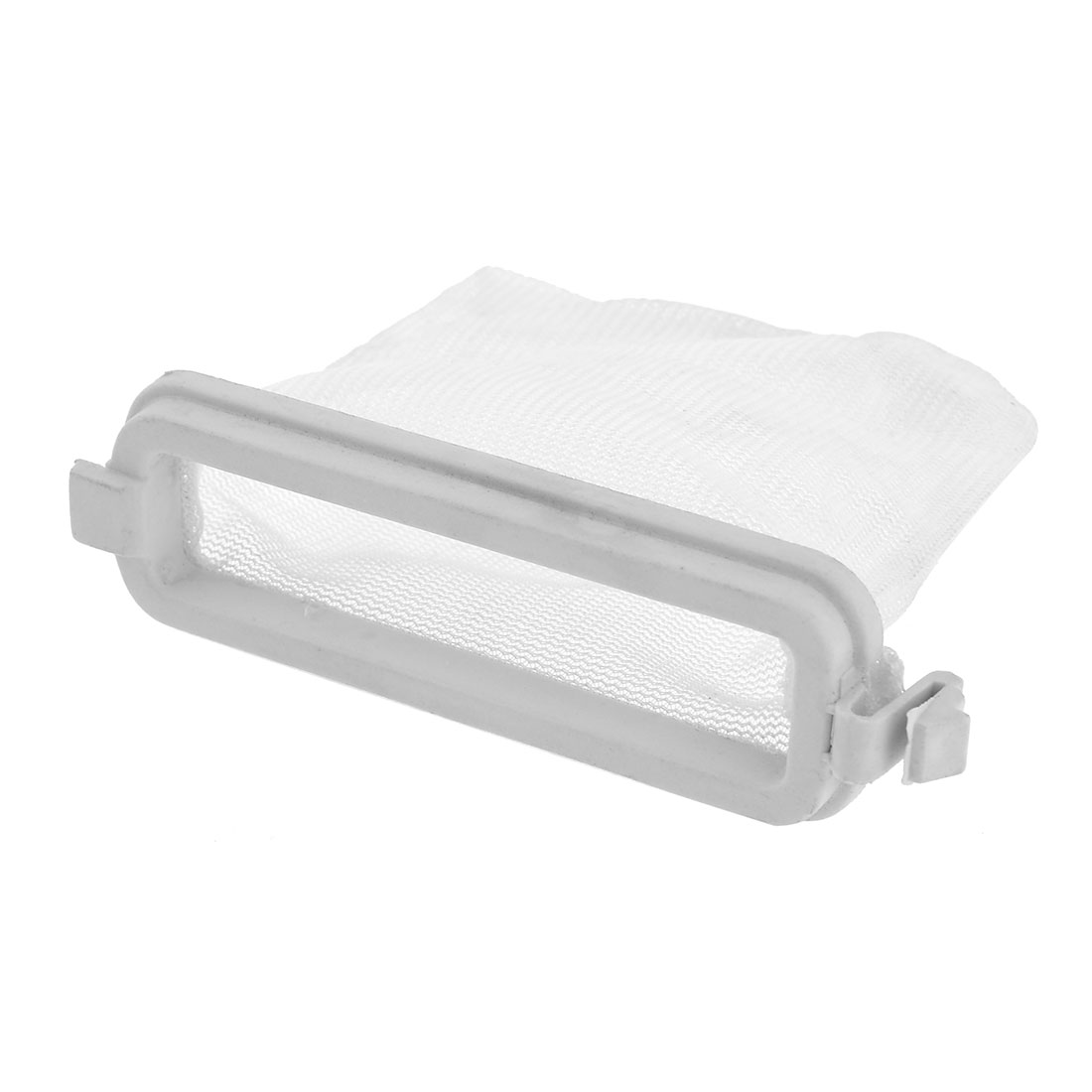 "Washing Machine Laundry Repairing Part Filter Bag White 3.9"" x 2.8"""
