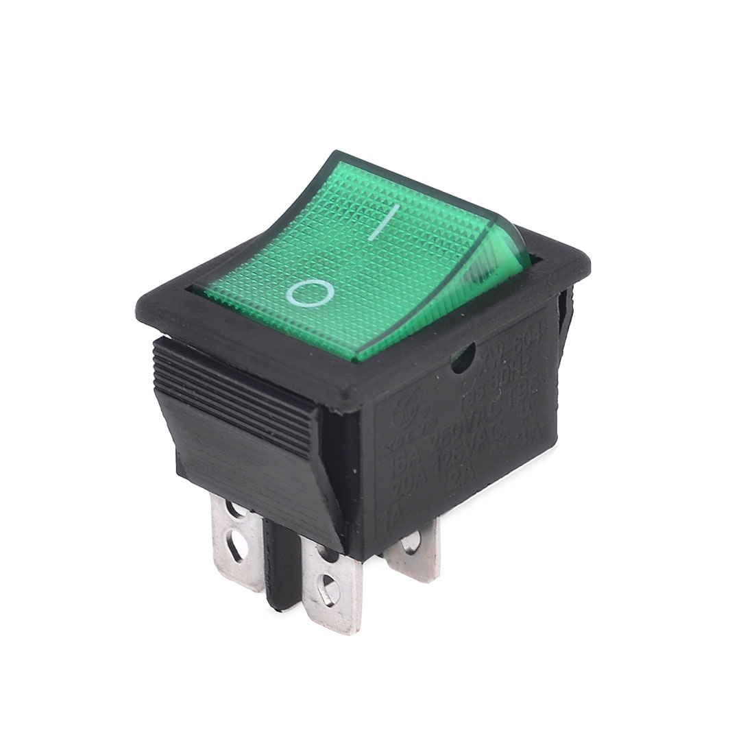 Green Head DPST ON/OFF Snap in Boat Rocker Switch 20A 250V