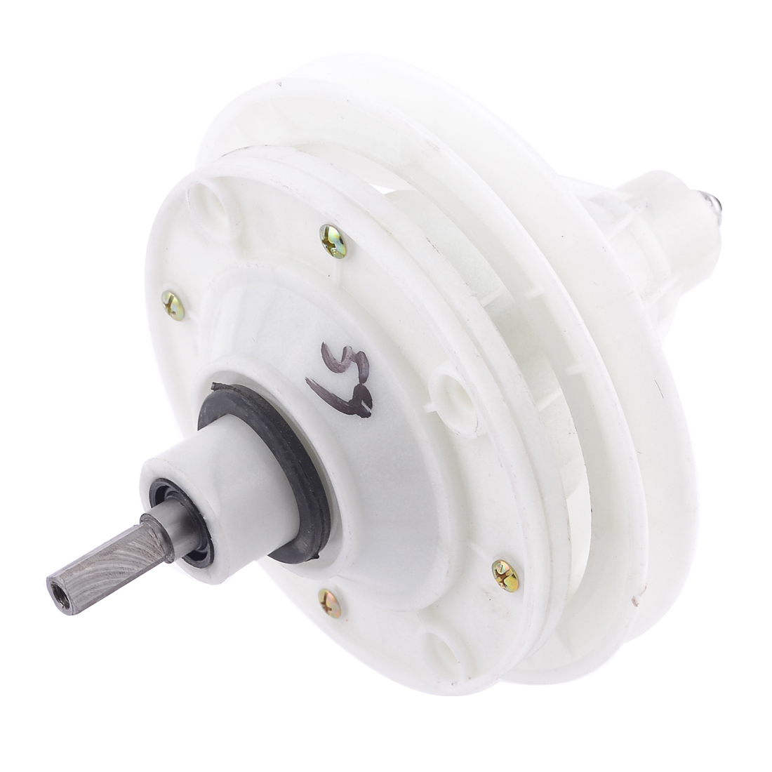23mm Length Square Shaft Washing Machine Gear Box Reducer White
