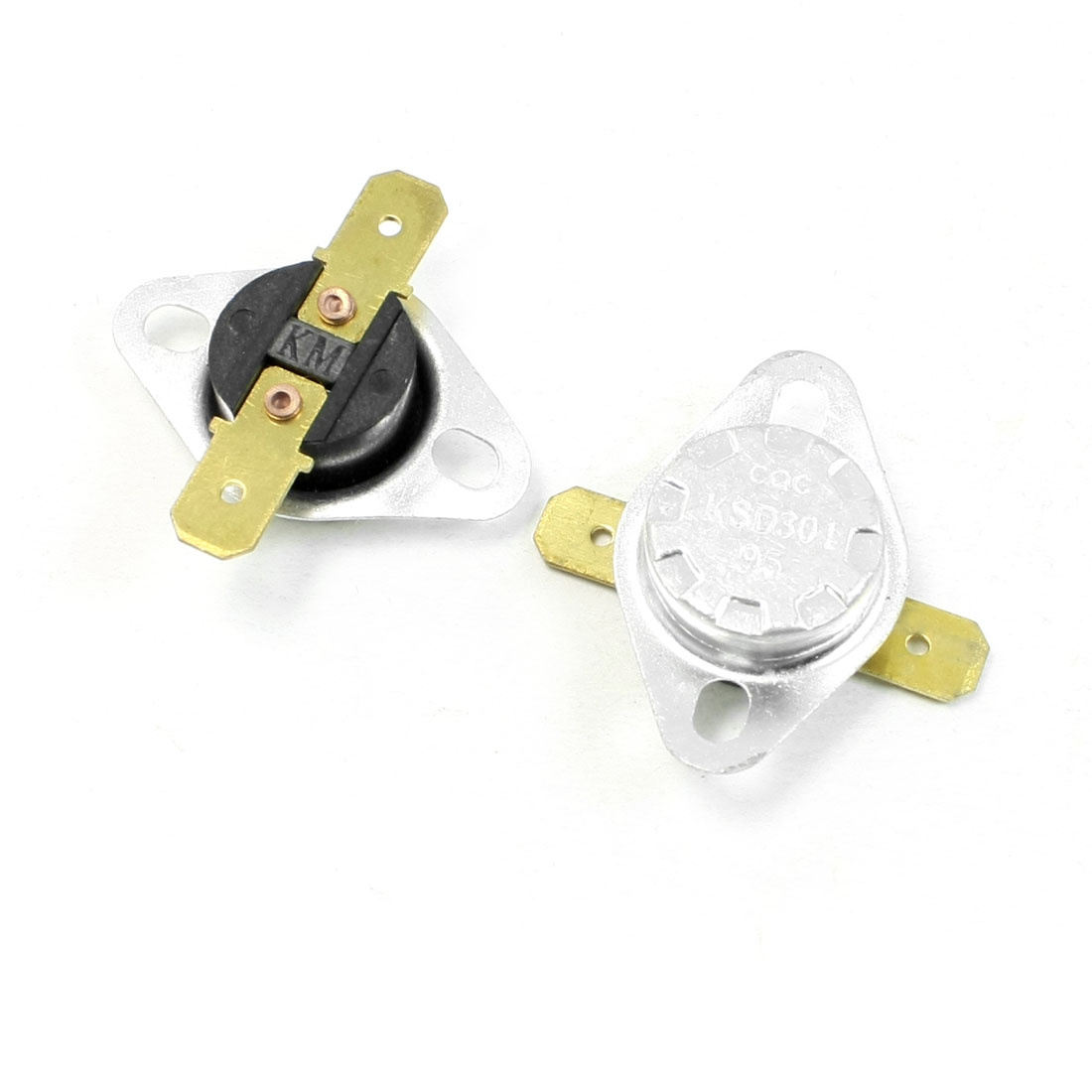 2 Pcs 85-95C NC 250V AC 10A Switch Ceramic Thermostat KSD301
