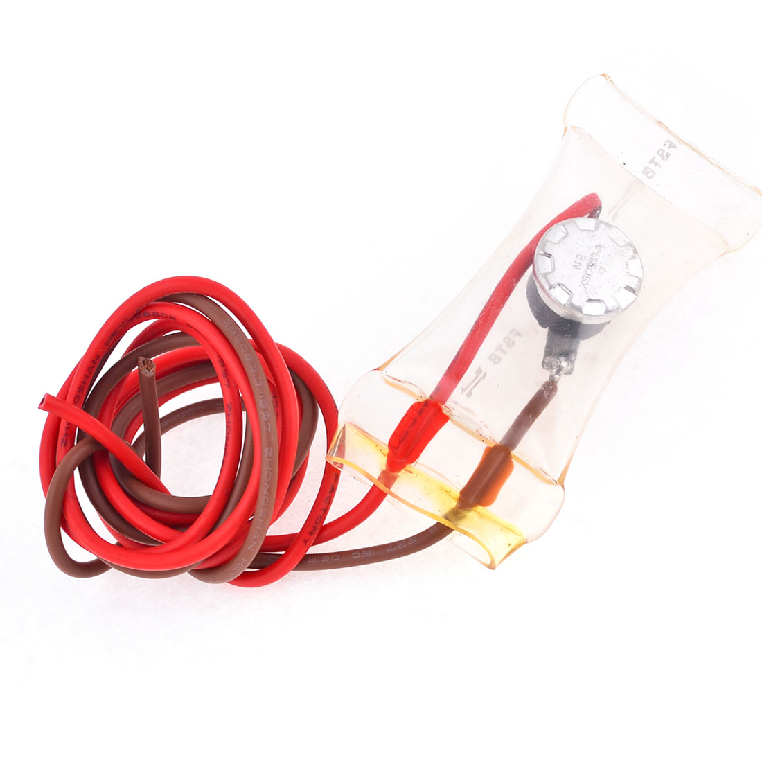 AC 230V 3A 2 Wired Lead -7C Refrigerator Defrost Thermostat Switch