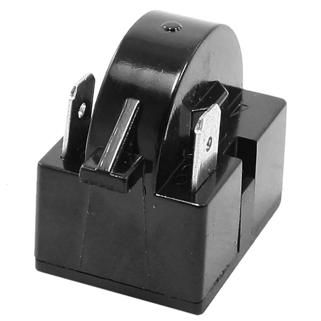 Black 74 Ohm Resistance 2 Terminal Refrigerator PTC Starter Relay