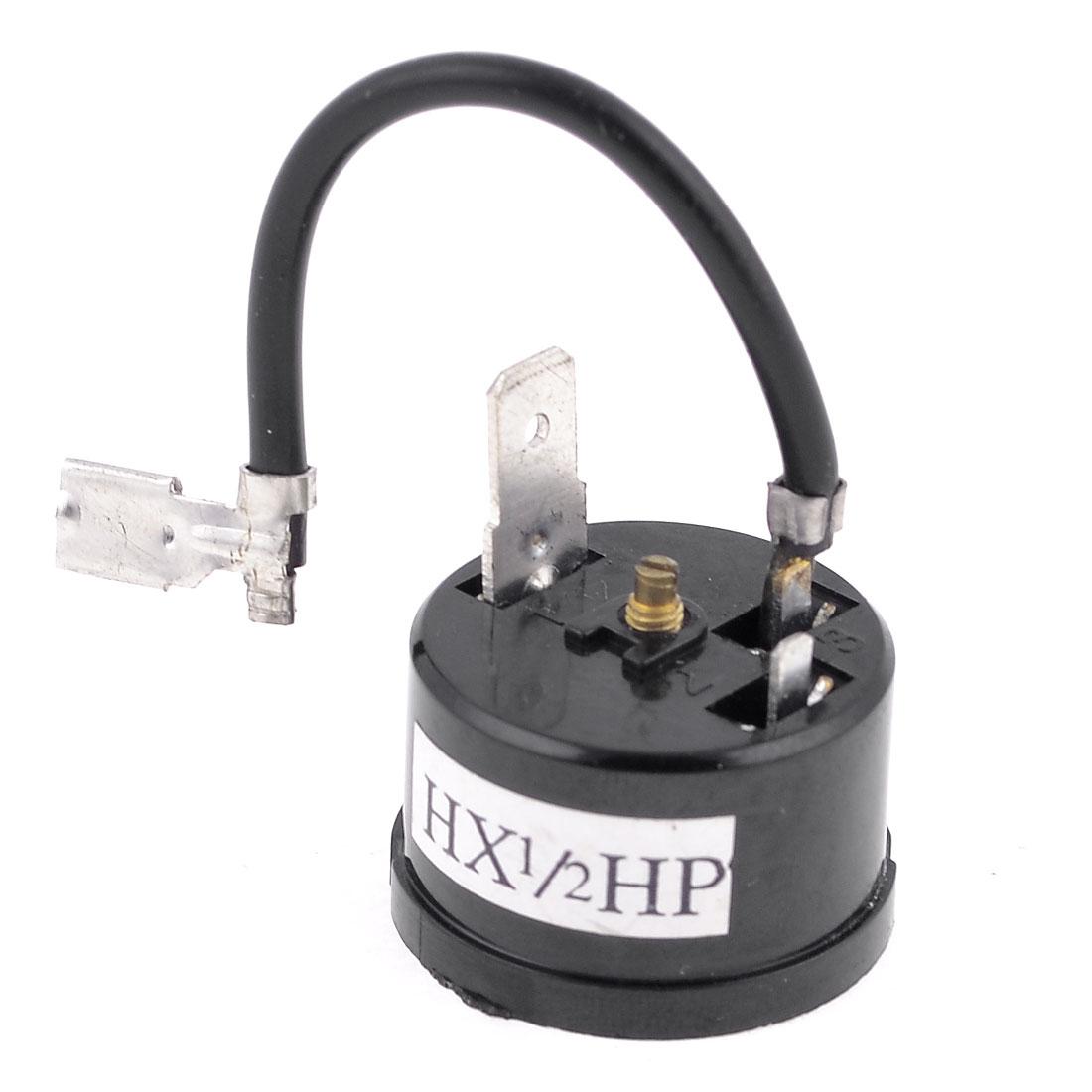 1/2HP Fridge Refrigerator Compressor Thermal Protector Black