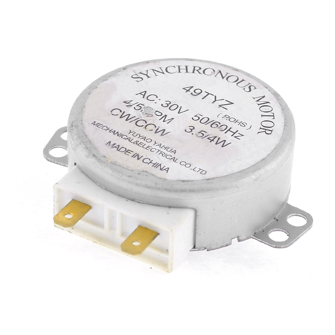 Microwave Oven Turntable Synchronous Motor CW/CCW 3.5/4W 4/5RPM AC 30V
