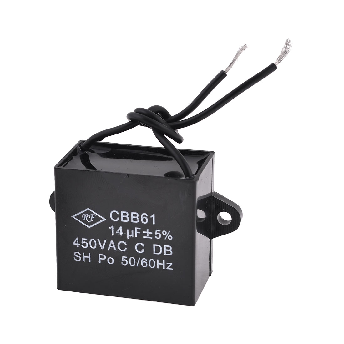 CBB61 Metalized Polypropylene Film Motor Run Capacitor AC 450V 14uF