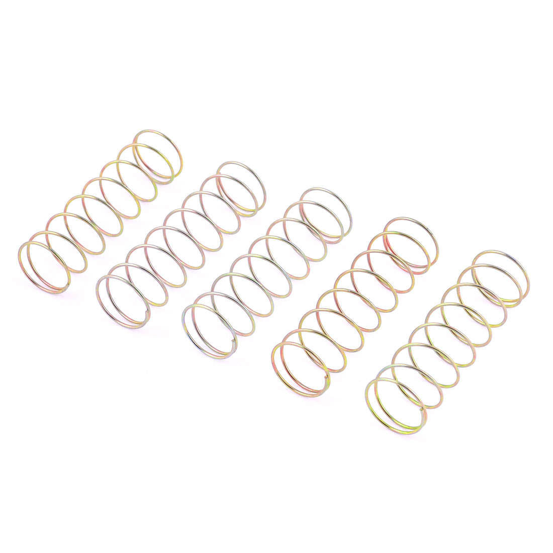 5pcs Bronze Tone Washing Machine Water Drain Spring Replacement 9cm x 2.6cm