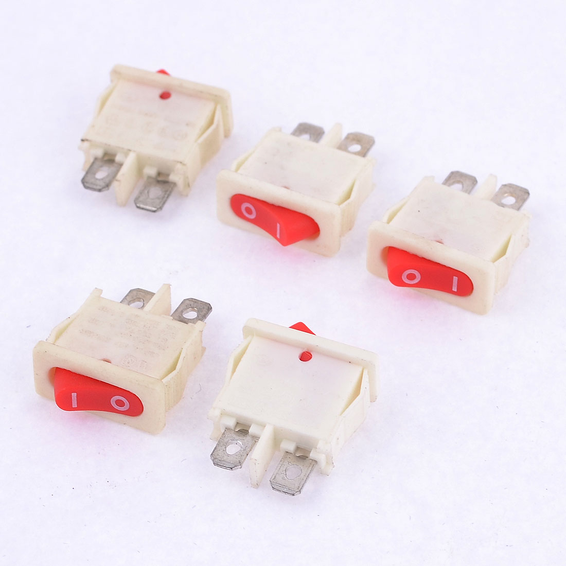 5 Pcs 2 Pin 2 Position SPST Rocker Switch AC 15A/250V 20A/125V for Vehicle Car