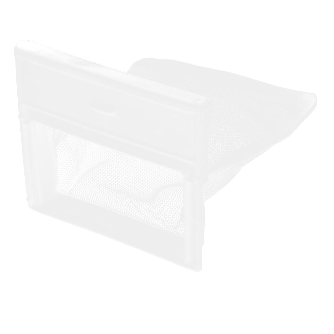 "White Plastic Nylon Filter Bag Spare Part 2.4"" x 1.6"" Mesh for Washing Machine"