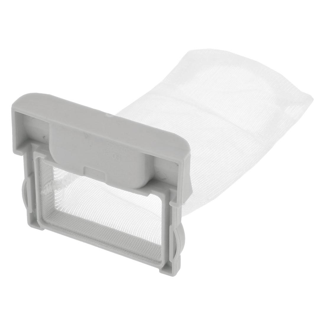 "White Plastic Nylon Filter Bag Spare Part 4.7"" x 2.4"" Mesh for Washing Machine"