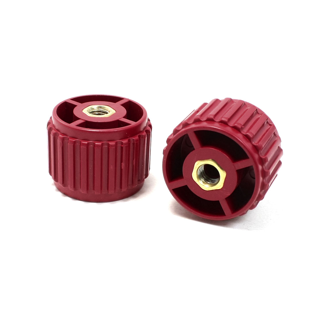 2 Pieces 8mm Bore 30mm High Dark Red Enhanced Insulator GCS30*40 for Bus Bar