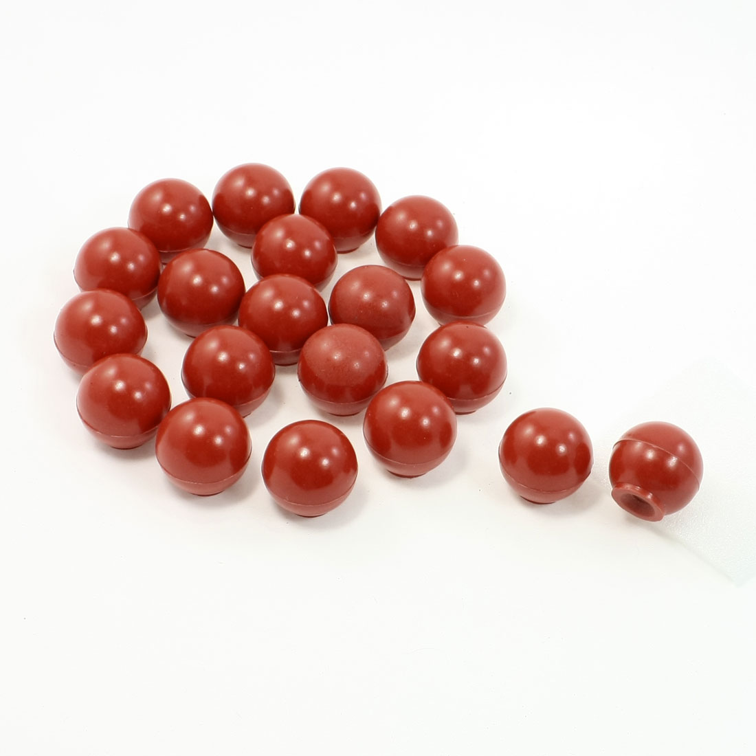 "20Pcs Red Plastic Balls Machine Tool Handle Round Knobs 1.1"" Dia 0.24"" Bore"