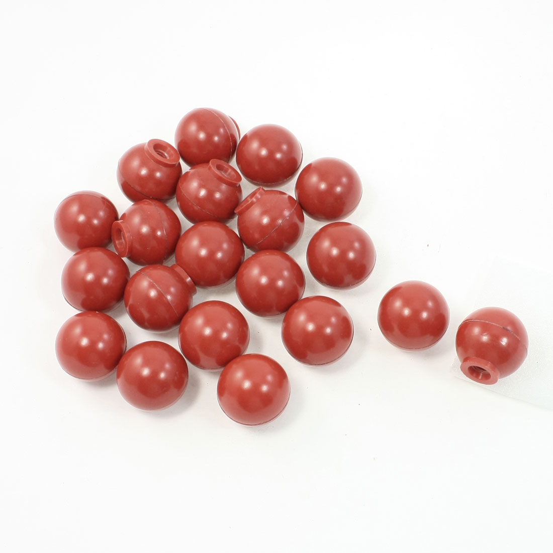 "20 Pcs 0.3"" Moulded Thread 32mm Dia Handling Ball Knobs Red for Machine"