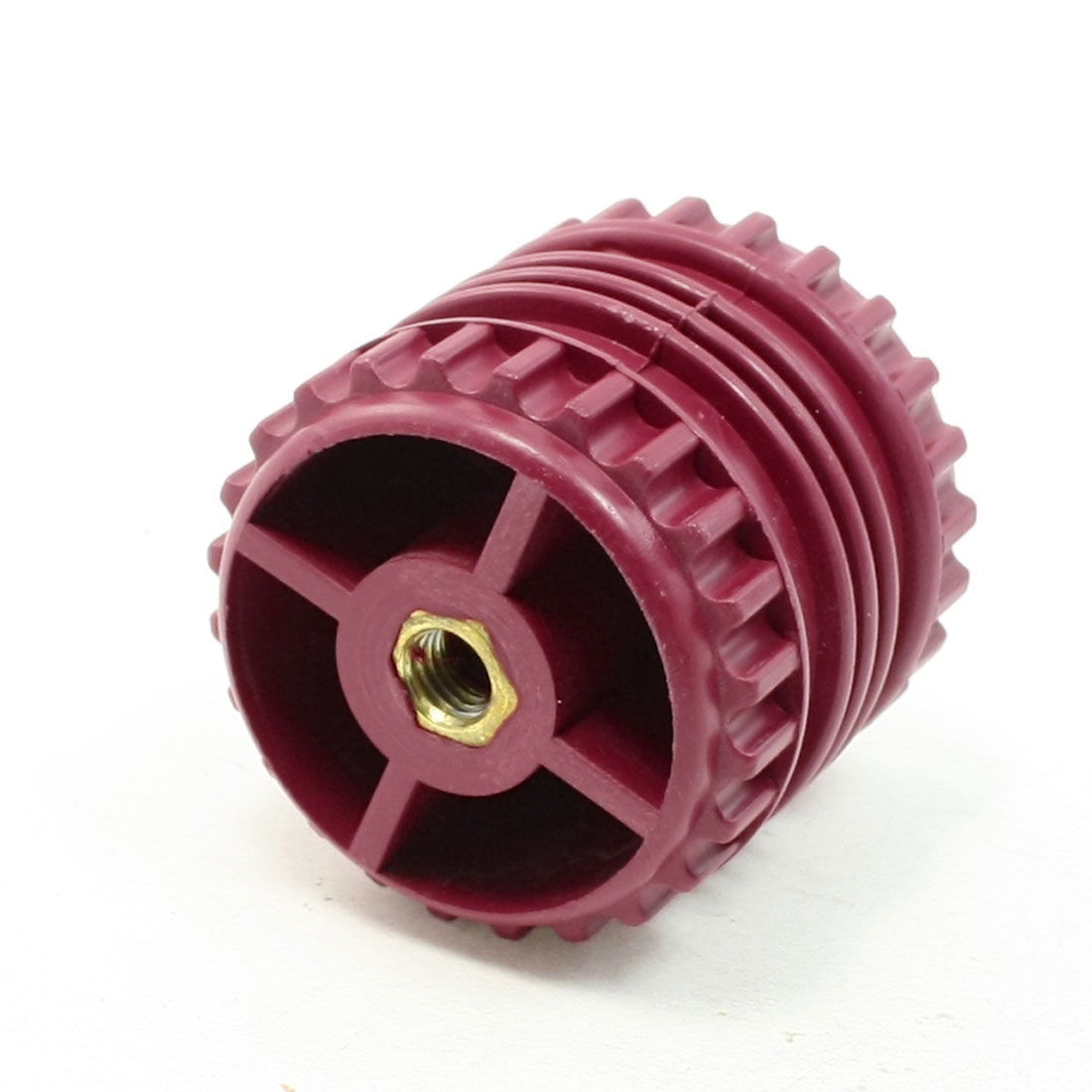 GCS50*50 8mm Dia Thread 50mm High Dark Red Bus Bar Support Insulator
