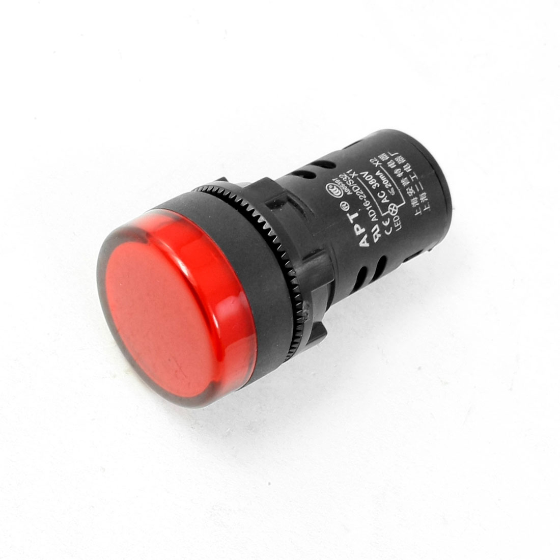 AC 380V 20mA 27mm Dia Red LED Signal Indicator Light Lamp AD16-22D/S32