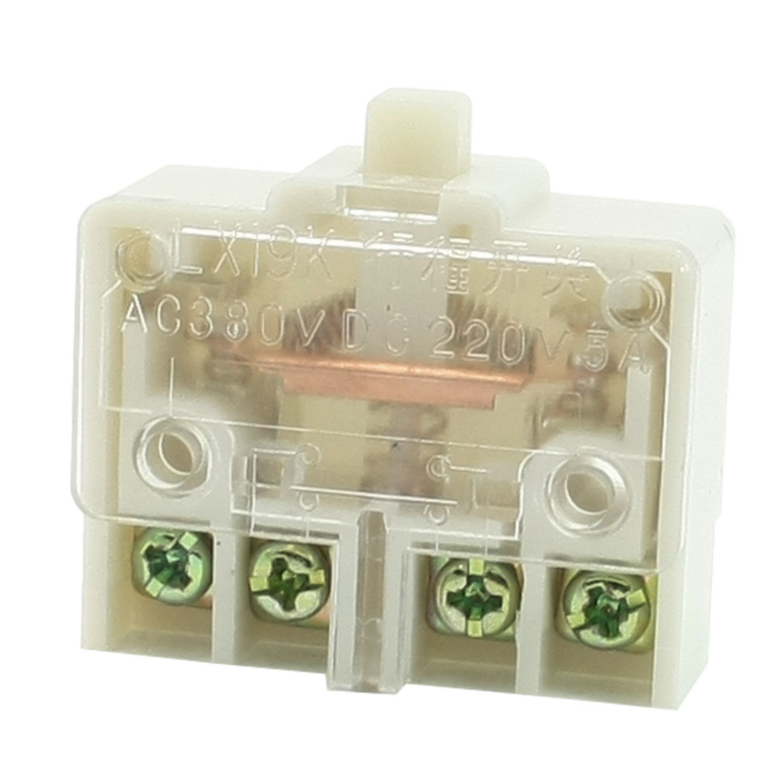DPST Button Actuator Clear Shell Limit Switch AC/380V DC/220V 5A