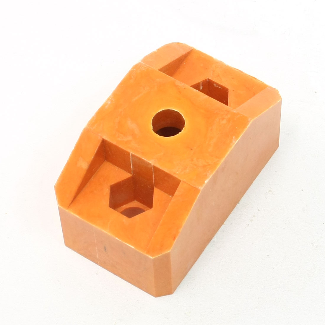 12mm Dia Triple Hole 44mm Height Bus Bar Insulator Support Orange