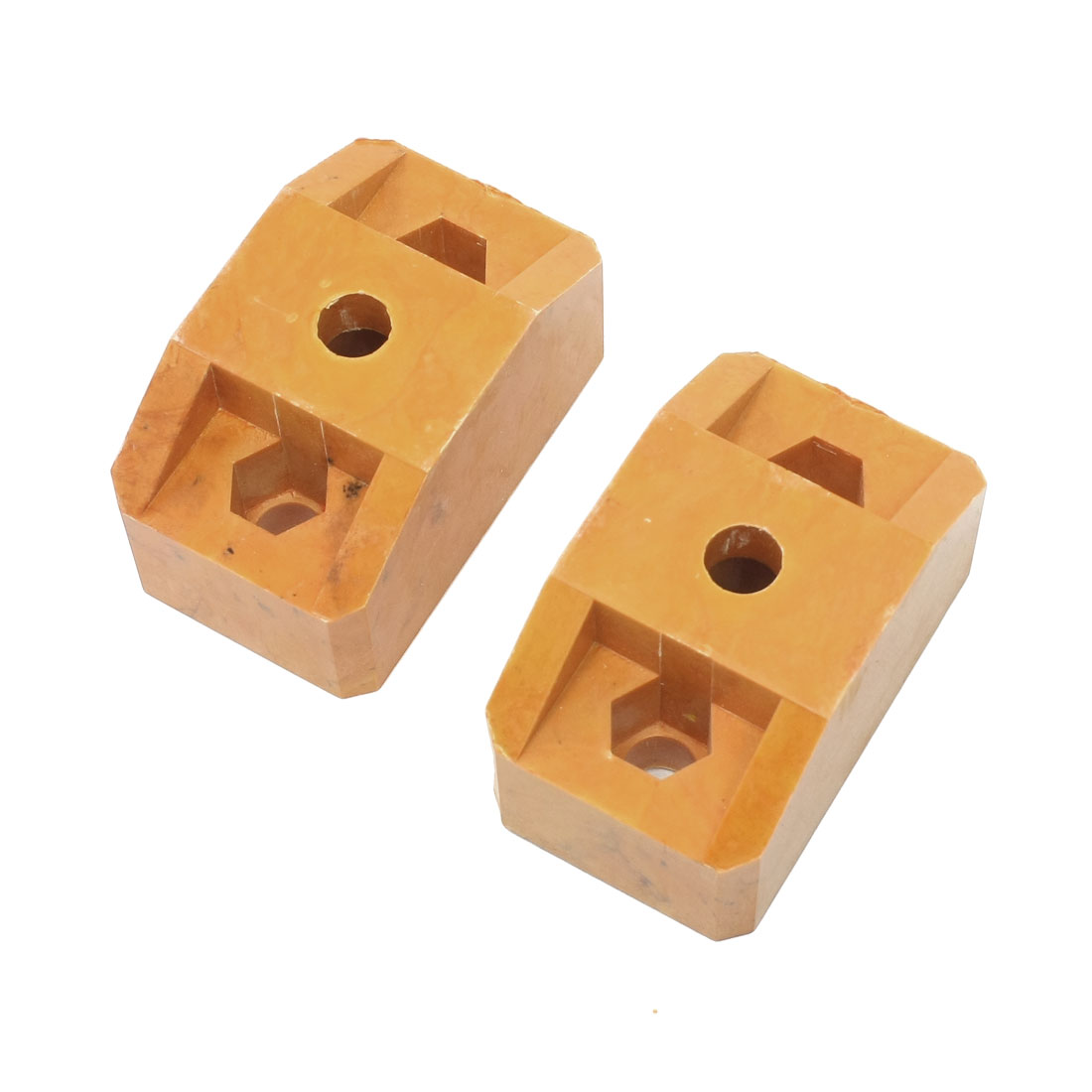 2 Pcs Busbar Insulator Support Block 12mm Diameter Hole 84 x 49 x 44mm