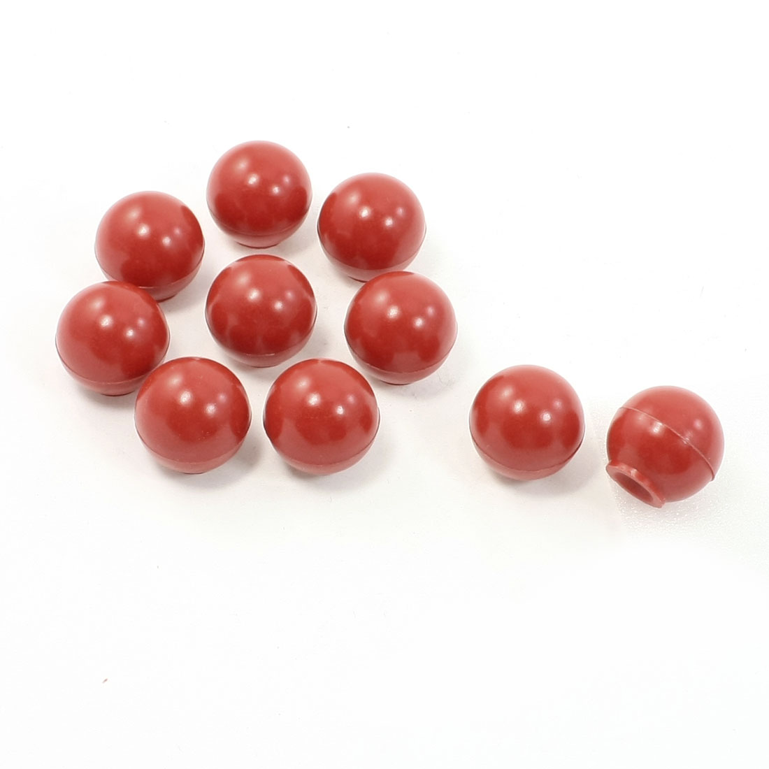 10 Pcs 28mm Dia 6mm Thread Plastic Ball Machine Handle Knob Replacement Red