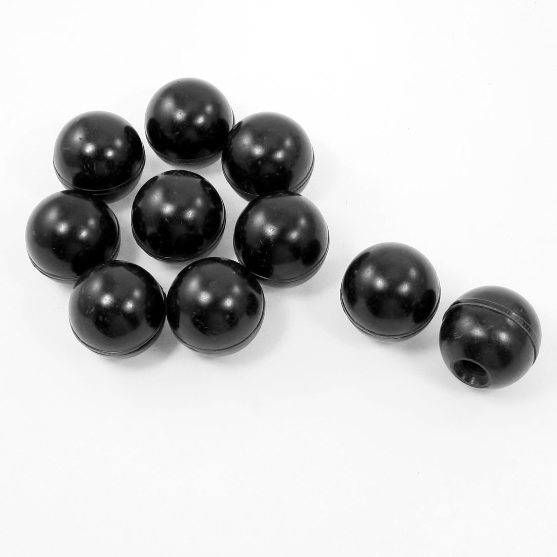"0.5"" Dia Threaded Black Plastic Ball Knob Round Handle 10Pcs for Machine Tool"