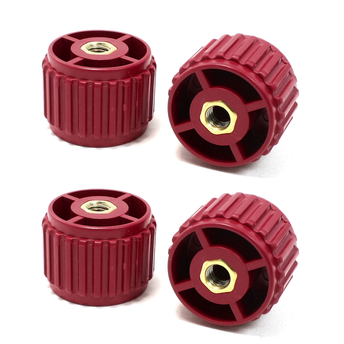 4 Pcs 8mm Bore 30mm High Dark Red Enhanced Insulator GCS30*40 for Bus Bar