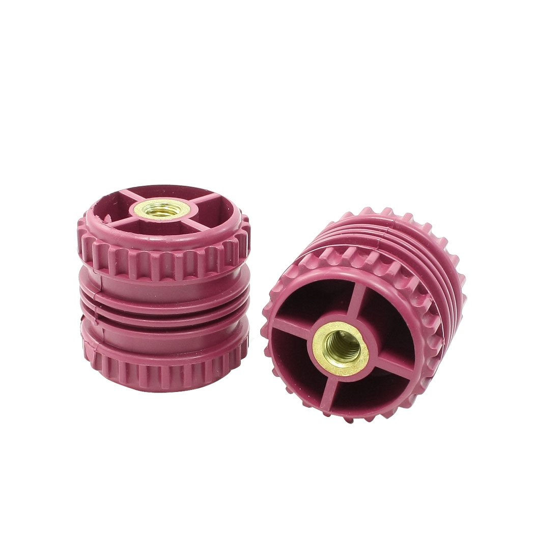 10mm Threaded Dark Red Bus Bar Support Insulator 50mm Height 2 Pcs