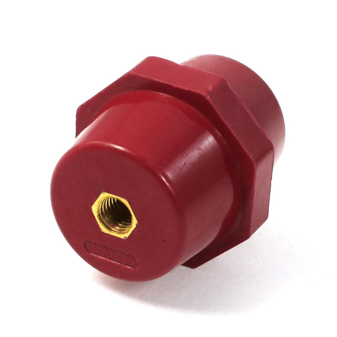 "0.39"" Brass Thread 2.4"" Height Busbar Enhanced Insulator Supporter Red"