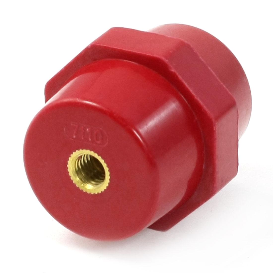 8mm Gold Tone Female Thread Red Enhanced Insulator SM7110 for Bus Bar