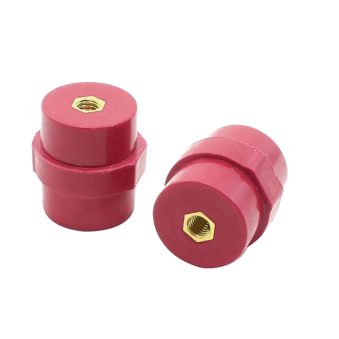 2 X SM30 6mm Bore 30mm Height Busbar Insulators Supports Separators