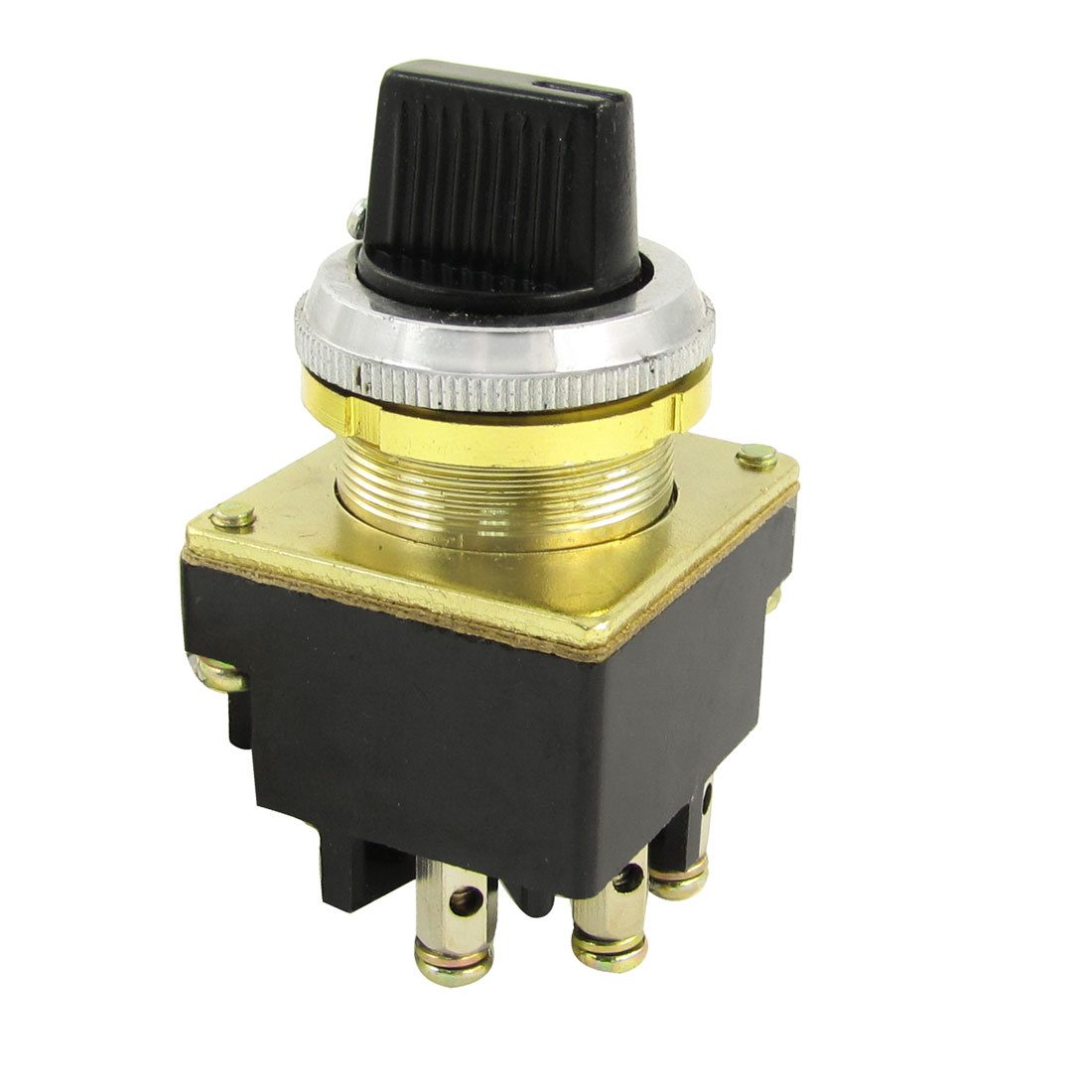380V 6A 220V 8A 127V 10A 3-Terminals 1NO 1NC 3 Position Selector Control Switch