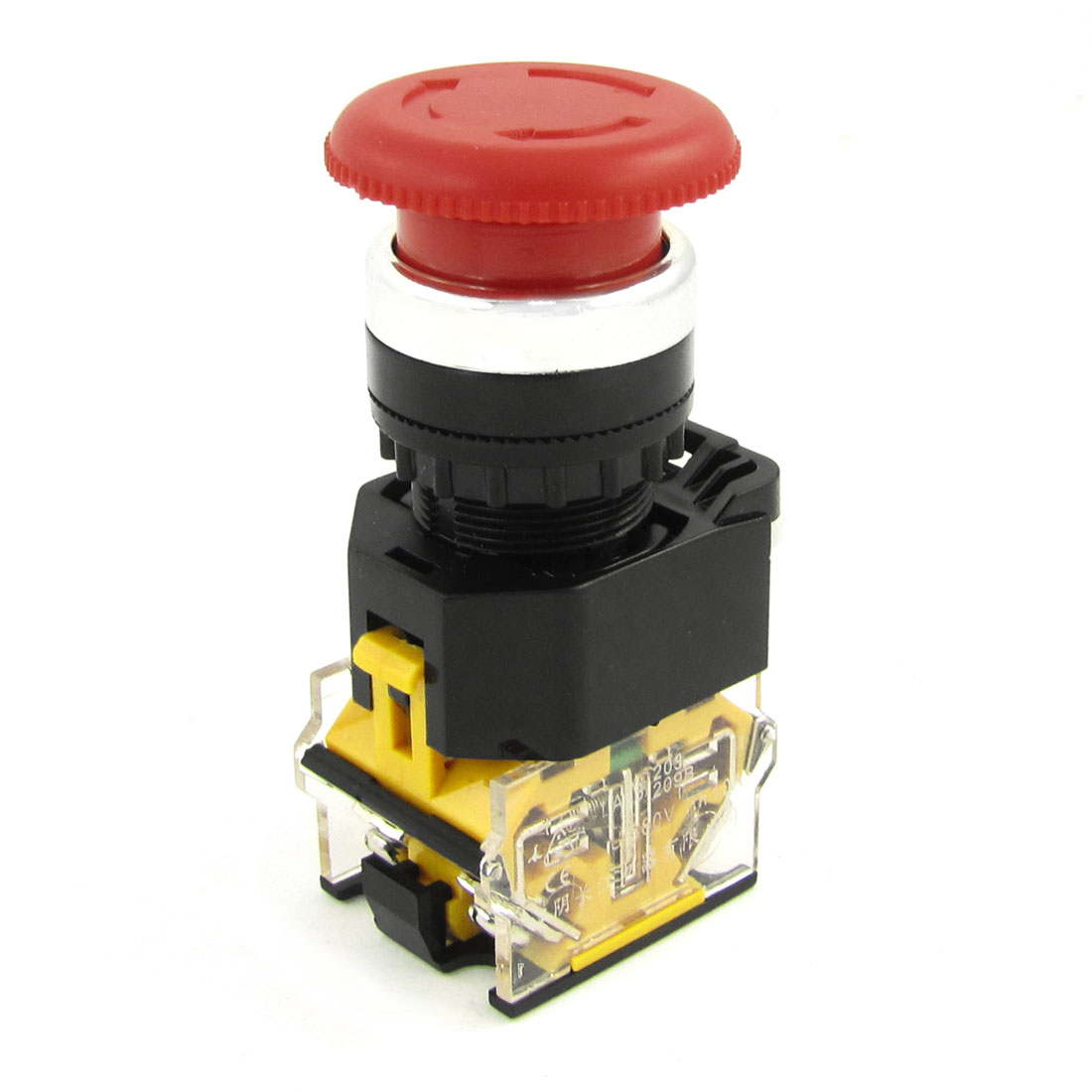 Self Locking Typed Red Mushroom Push Button Switch Ui 380V Ith 10A