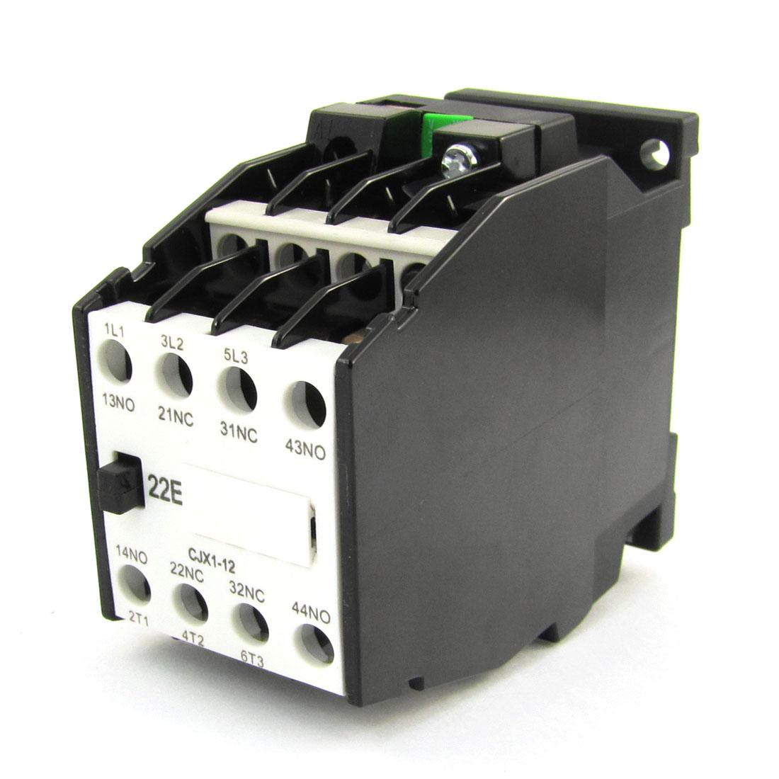 CJX1-12 660V 3 Poles 3P NC NO 5mm DIN Rail AC Contactor 36V 50Hz 42V 60Hz Coil