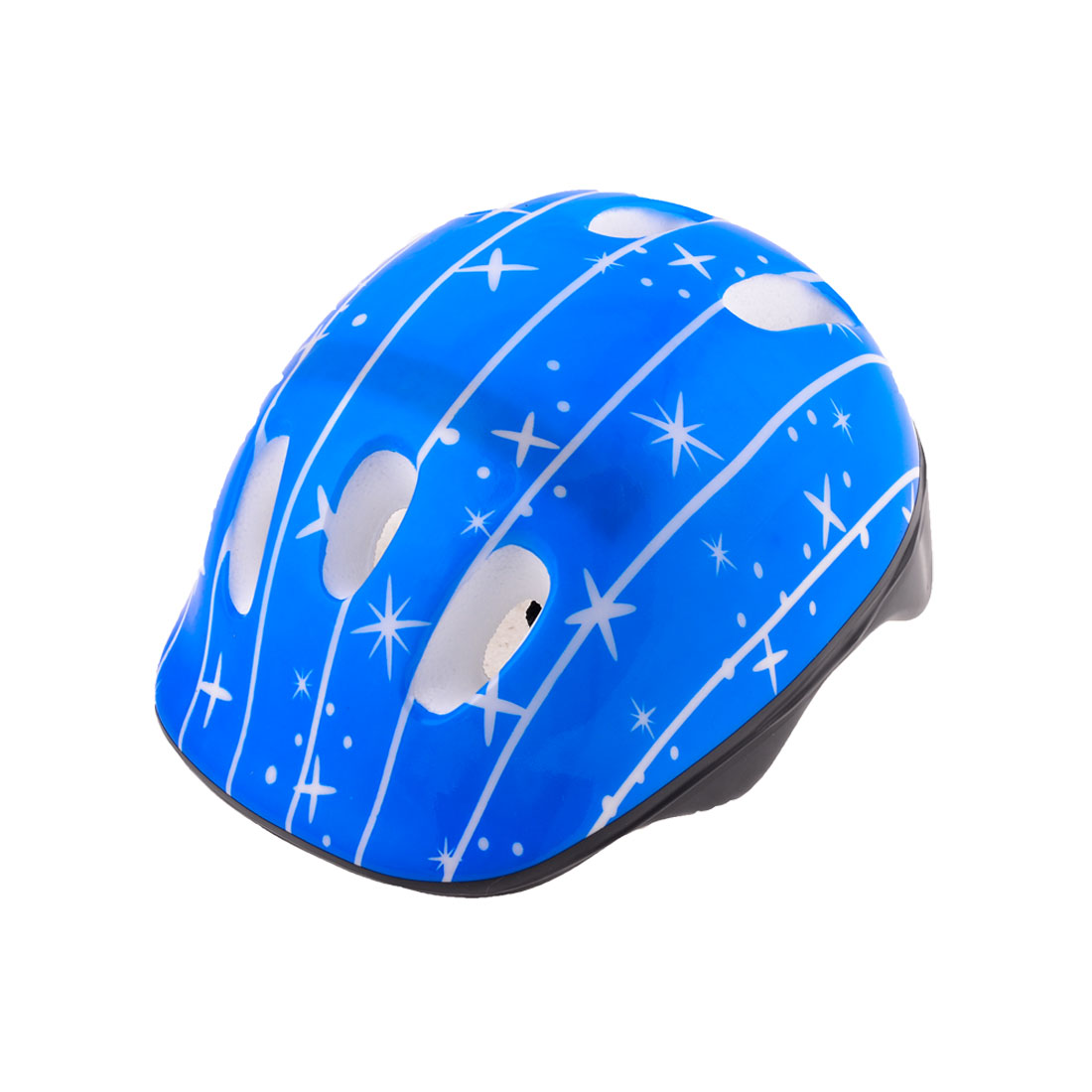 Blue Sparkle Pattern Foam Sports Cycling Skating Skiing Helmet