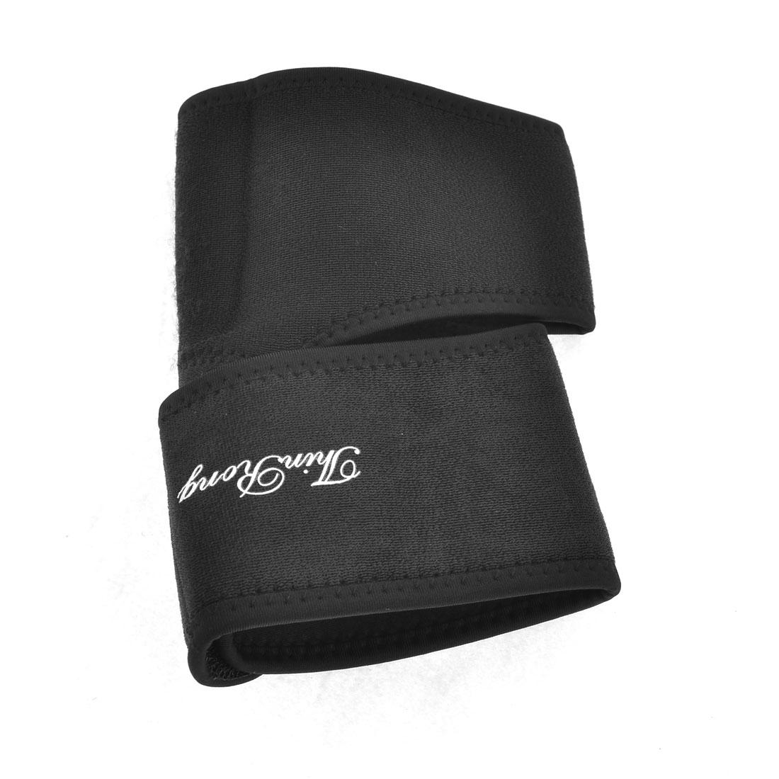 Sporter Athlete Detachable Closure Soft Elastic Eblow Arm Support Black