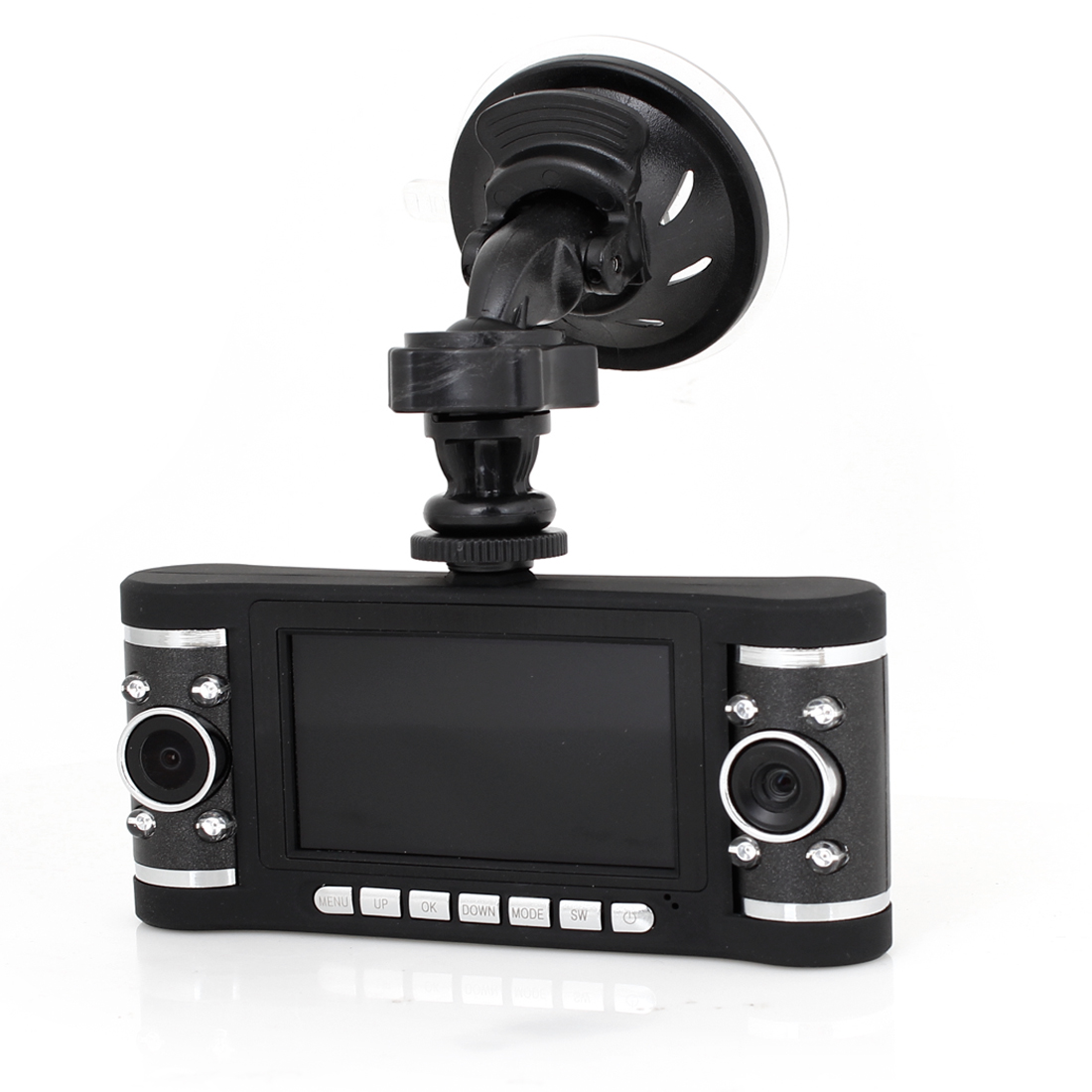 "Vehicle Car Portable 2.7"" TFT LCD Screen G-Sensor Dual Lens DVR Recorder Camera"