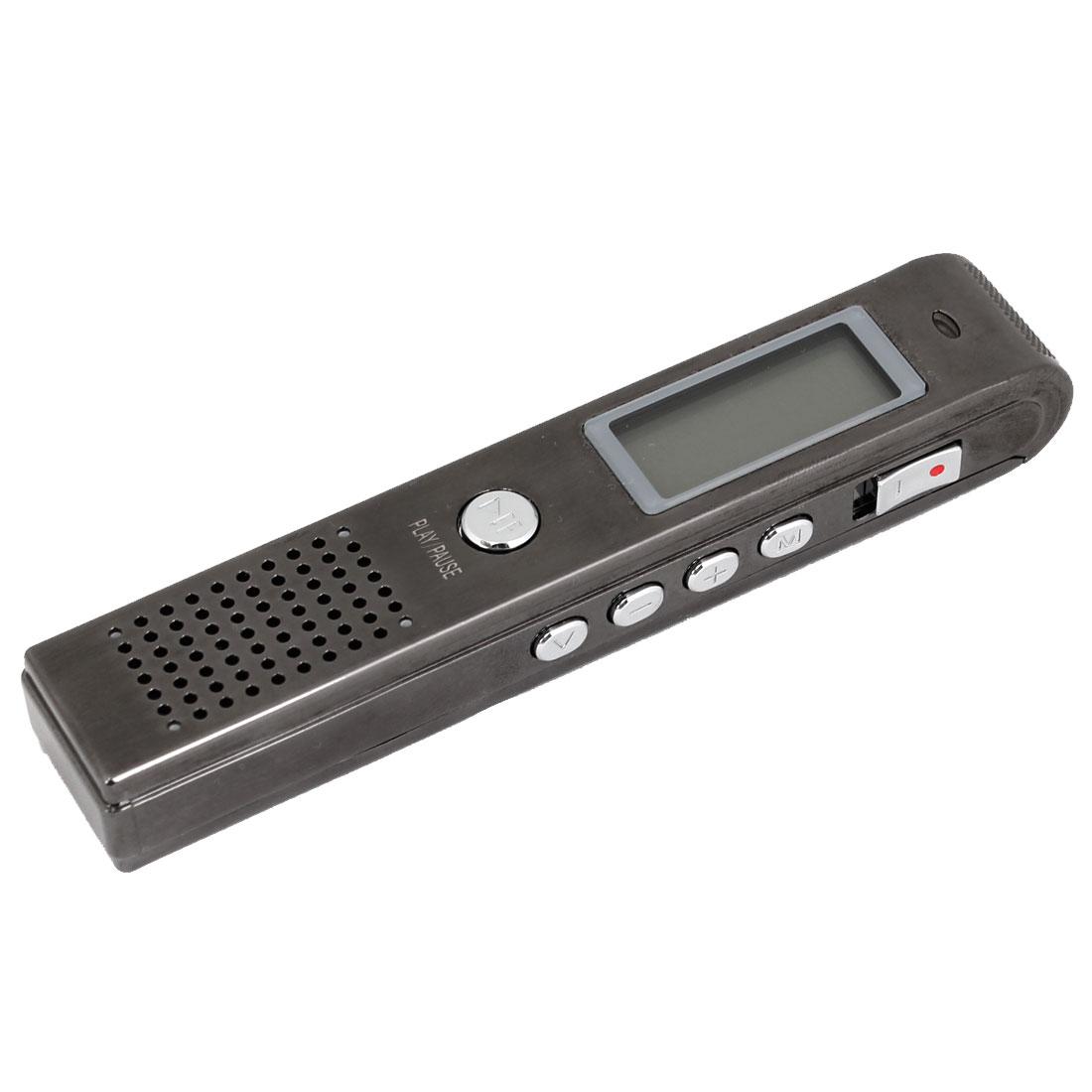 Dark Gray 4GB MP3 Digital Repeat Voice Recorder Pen