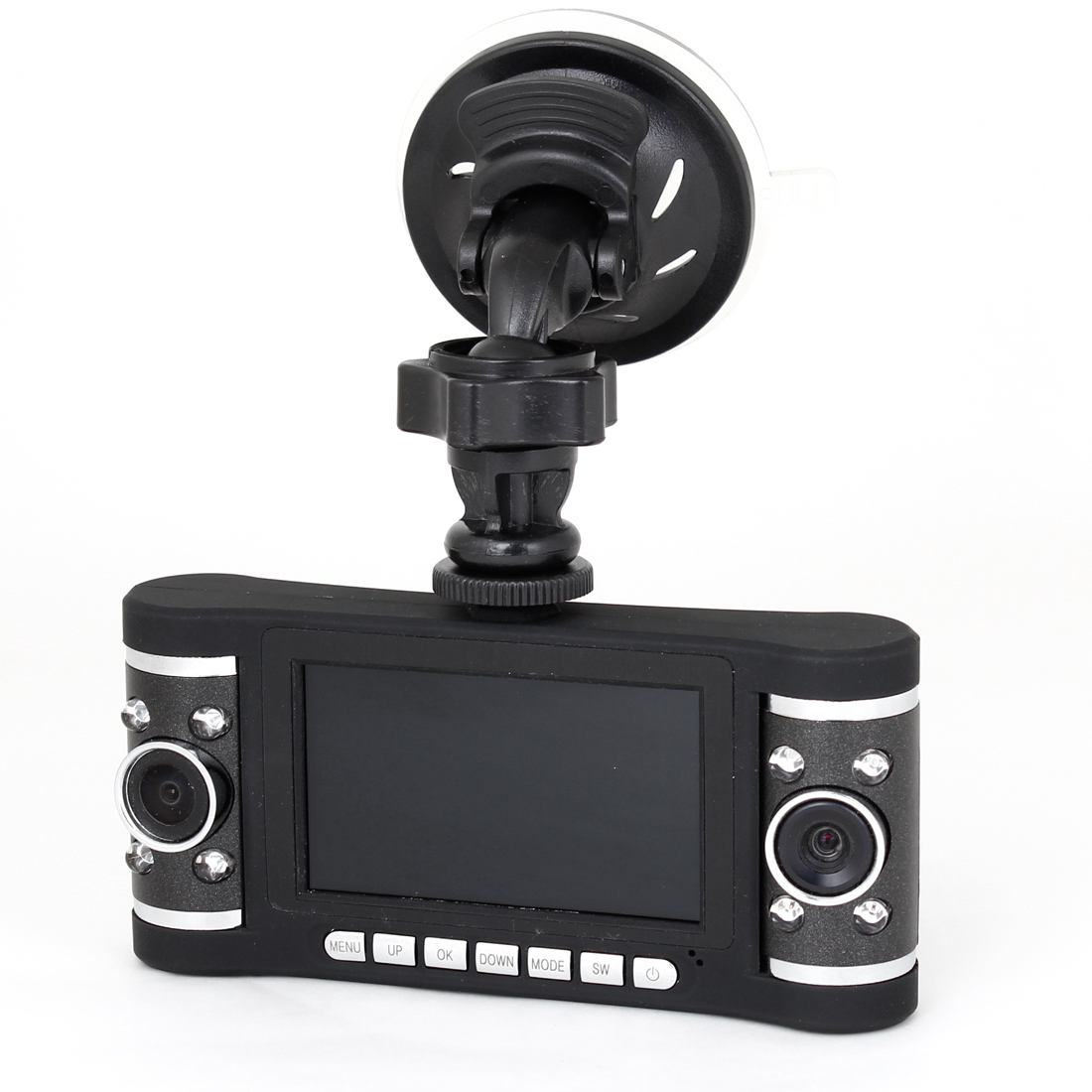 "Car 420P 720P 2.7"" HD LCD Display Double Lens DVR Dash Camera Video Camcorder"