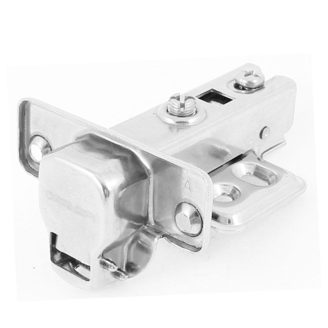 Hardware Part Buffering Half Overlay Hinge Silver Tone for Cabinet Door