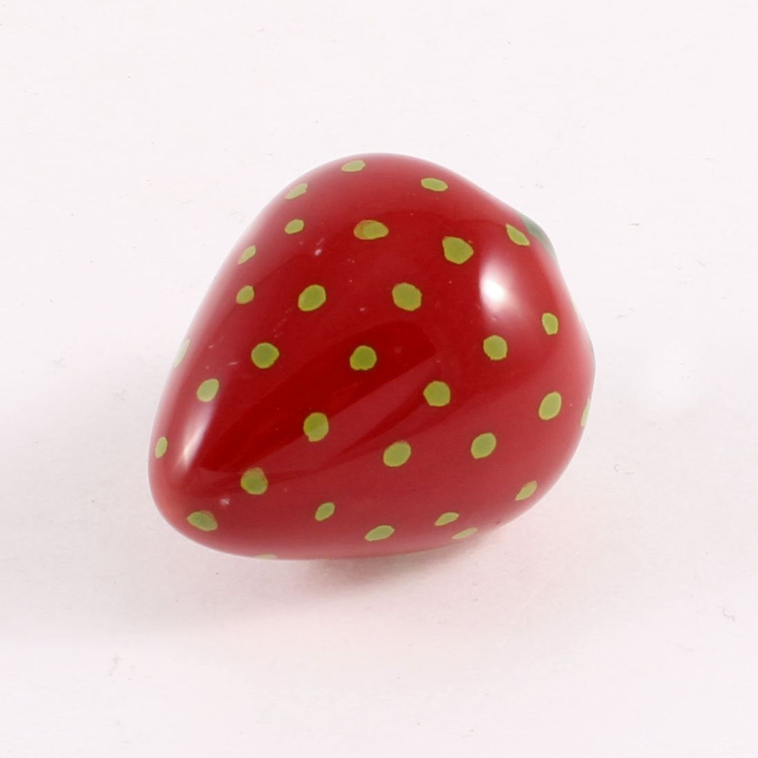 Home Red Green Strawberry Shape Ceramic Cabinet Drawer Pull Handle Knob