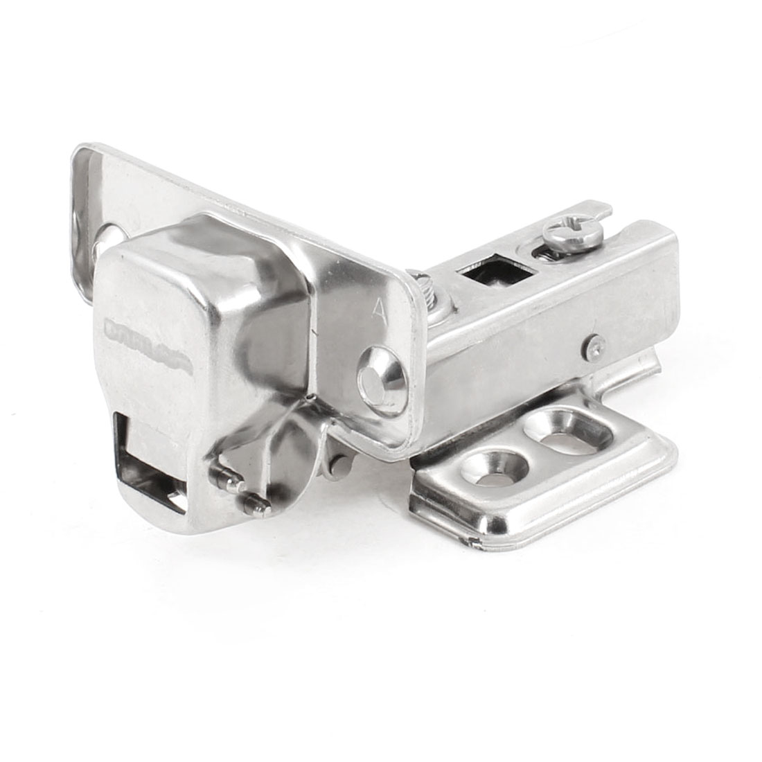 Furniture Fittings Silver Tone Metal Buffer Concealed Cabinet Door Hinge