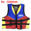 Red Backside Training Aid Boating Floating Swim Life Jacket Protector for Children