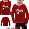 Red Color Cartoon Car Pattern Spring Autumn Shirt for Boys 24 Month