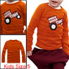 Boys Round Neck Long Sleeve Dark Orange Autumn T-Shirt 5