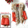 Girls Open Front Self Tie Strap Decor Spring Vest Orange Red 6