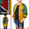 10 Green Curry Panel Style Zip Closure Color Block Boys Track Jackets