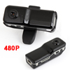 Black Plastic Casing 480P Mini Camera DV Recorder w Stand Strap